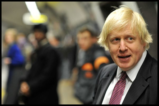 boris johnson on tube