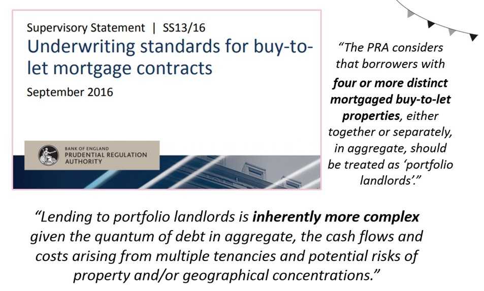 buy-to-let mortgage standards